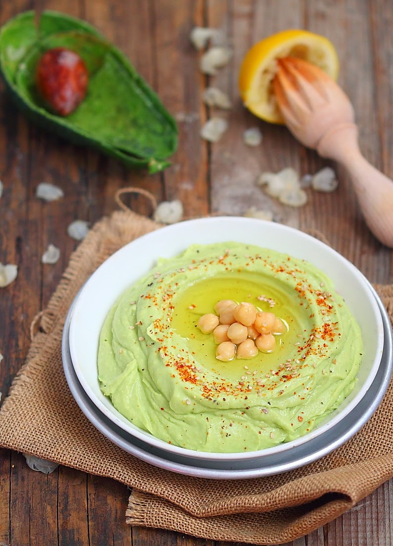 houmous pois-chiches et avocat